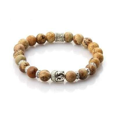 Bracelet Bouddhiste Jaspe Paysage - 1