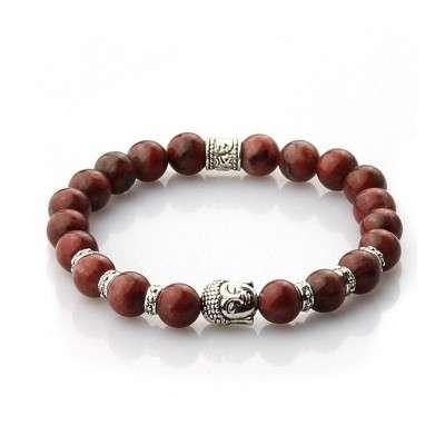 Bracelet Bouddhiste Jaspe Rouge - 1