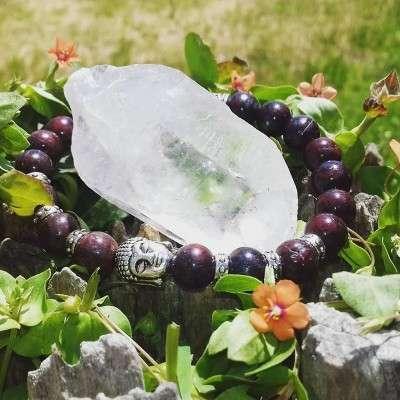 Bracelet Bouddhiste Jaspe Breschia - 2