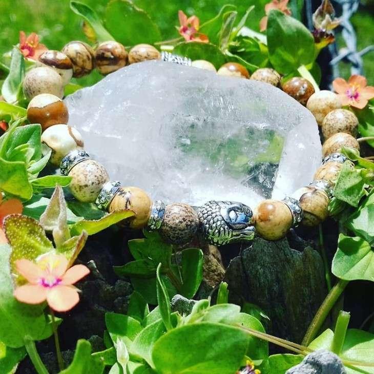 Bracelet Bouddhiste Jaspe Paysage - 2