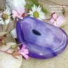 Pendentif en Agate violette avec cristallisation - 3