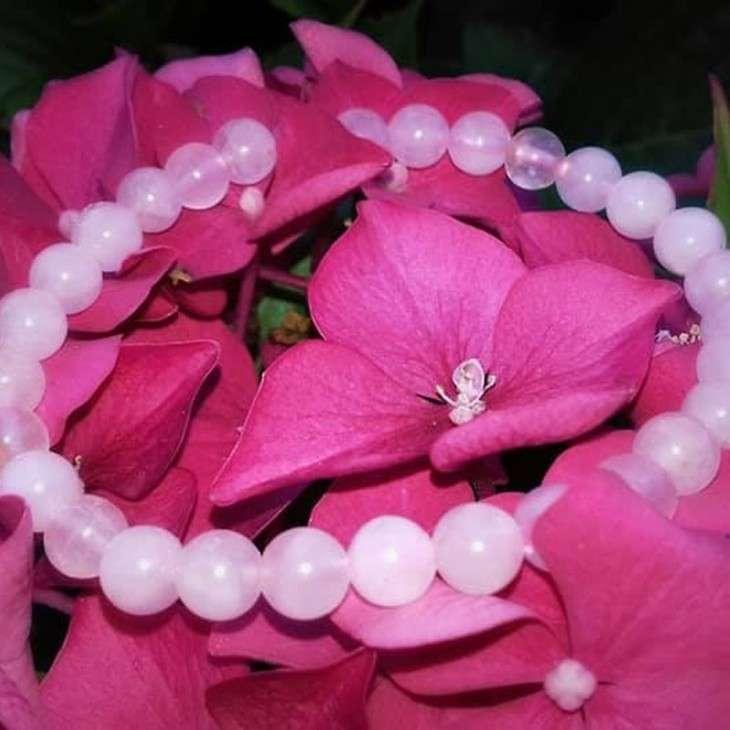 Bracelet 6 mm Quartz rose - 3