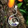 Pendentif spirale 7 chakras - 2
