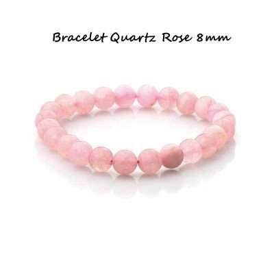 Bracelet-8mm-Quartz rose-1