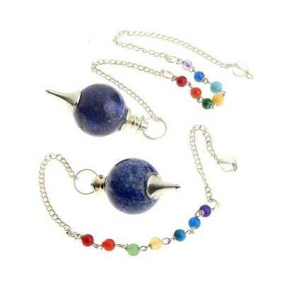 Pendule-sphérique-en-Lapis-Lazuli-avec-chaîne chakras-1