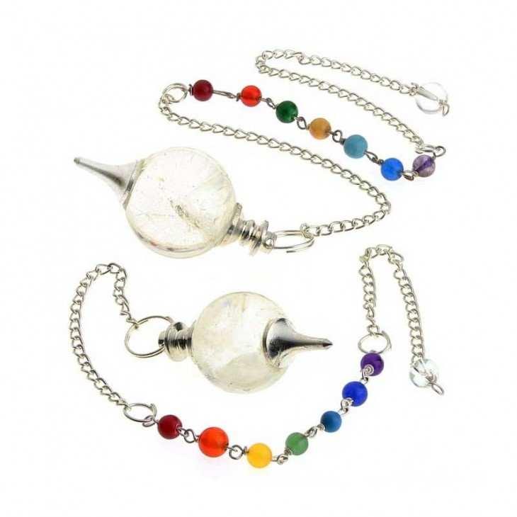 Pendule-sphérique-en-cristal-de-roche-avec-chaîne chakras-1