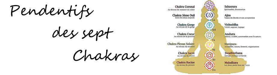 Pendentifs des 7 chakras  | Argent et pierres de qualité.