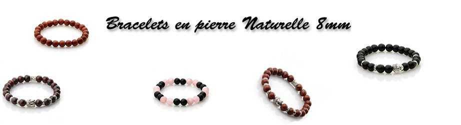Bracelets En Pierre Naturelle 8 mm | Livraison Gratuite